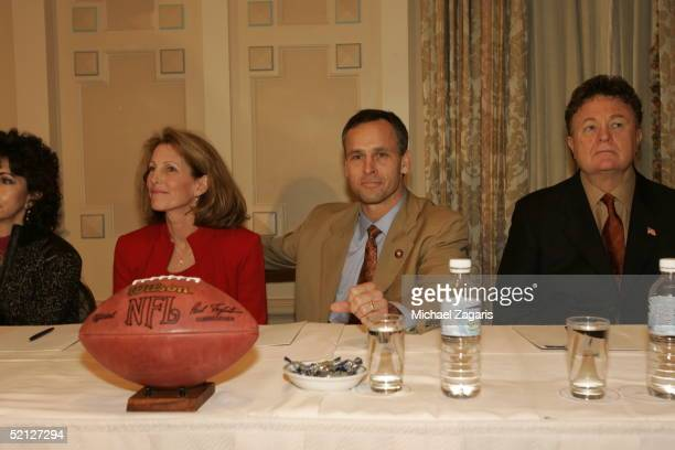 Kathy and Mike Nolan during the press conference announcing Mike Nolan as the Head Coach of the San Francisco 49ers at the Mark Hopkins Hotel in San...