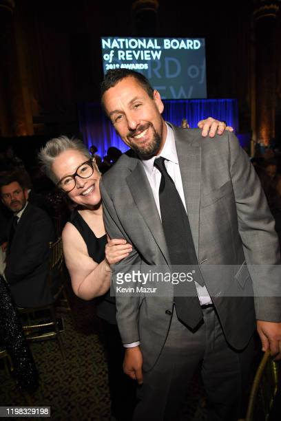 Kathy Bates and Adam Sandler attend The National Board of Review Annual Awards Gala at Cipriani 42nd Street on January 08 2020 in New York City