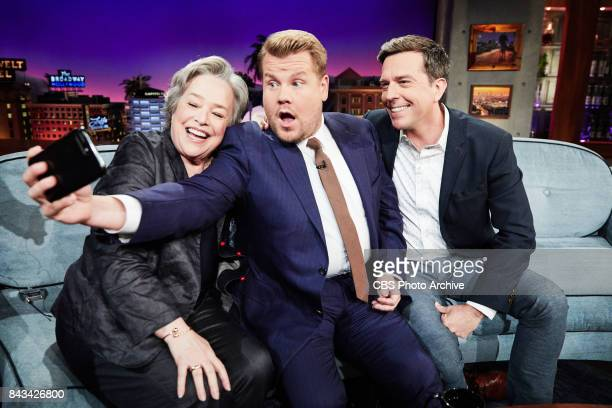 Kathy Bates and Ed Helms chat with James Corden during 'The Late Late Show with James Corden' Tuesday September 5 2017 On The CBS Television Network