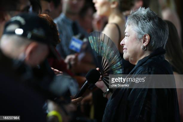 Kathy Bates arrives at FX's 'American Horror Story Coven' Los Angeles premiere screening at Pacific Design Center on October 5 2013 in West Hollywood...