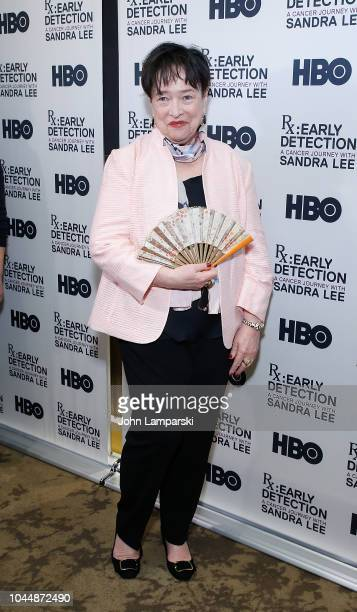 Kathy Bates attends RX Early Detection A Cancer Journey With Sandra Lee New York screening at HBO Theater on October 2 2018 in New York City