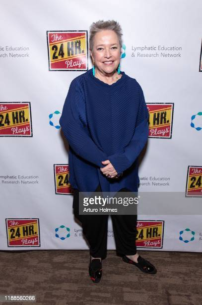 Kathy Bates attends The 24 Hour Plays Broadway Gala at Laura Pels Theatre at the Harold Miriam Steinberg Center for on November 18 2019 in New York...