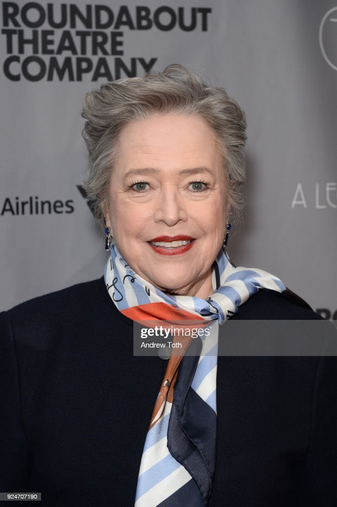 Kathy Bates attends the Roundabout Theatre Company's 2018 Gala at The Ziegfeld Ballroom on February 26, 2018 in New York City.