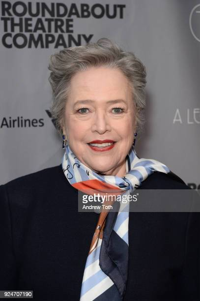 Kathy Bates attends the Roundabout Theatre Company's 2018 Gala at The Ziegfeld Ballroom on February 26 2018 in New York City
