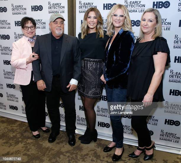 Kathy Bates Billy Joel Alexis Joel Sandra Lee and guest attend 'RX Early Detection A Cancer Journey With Sandra Lee' New York screening at HBO...