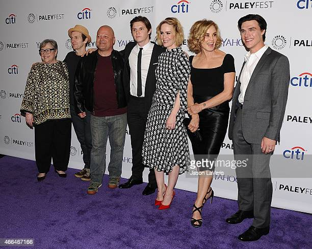 Kathy Bates Denis O'Hare Michael Chiklis Evan Peters Sarah Paulson Jessica Lange and Finn Wittrock attend the 'American Horror Story Freak Show'...