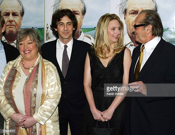 Kathy Bates director Alexander Payne Hope Davis and Jack Nicholson at the premiere of About Schmidt at the Academy of Motion Pictures Arts and...