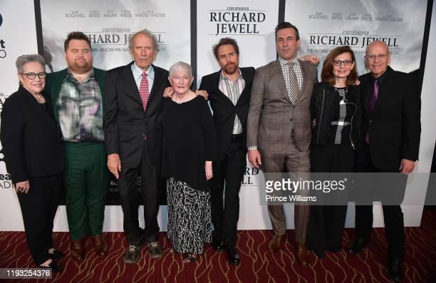 "Kathy Bates, Paul Walter Hauser, Clint Eastwood, Barbara ""Bobi"" Jewell, Sam Rockwell, Jon Hamm, Nadya Bryant and G. Watson Bryant Jr. Attend the..."