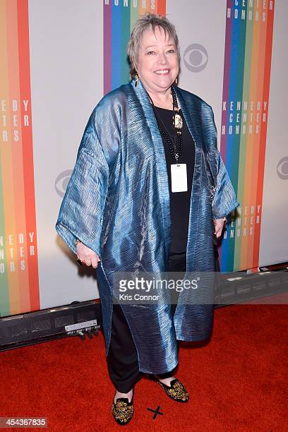 Kathy Bates poses on the red carpet during the The 36th Kennedy Center Honors gala at the Kennedy Center on December 8 2013 in Washington DC