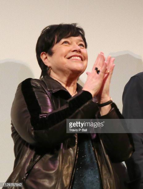 Kathy Bates speaks onstage at The Highway Man Premiere during the 2019 SXSW Conference and Festivals at Paramount Theatre on March 10 2019 in Austin...
