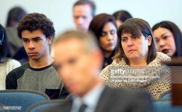 Kathy Branson mother of murder victim Kianna Jackson and her brother Othello Jackson listen as Steven Gordon is sentenced to death for Kianna...