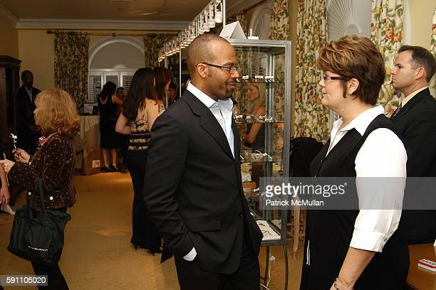 Kathy Clark and Lloyd Boston attend The LensCrafters EyeCatching Oscar Suite Cocktail Party in Honor of the 77th Academy Awards at Regent Beverly...