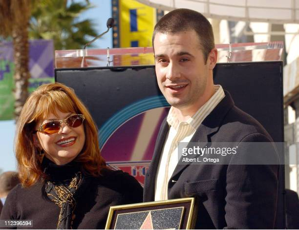 Kathy Cochran and Freddie Prinze Jr during Freddie Prinze Posthumously Honored with a Star on the Hollywood Walk of Fame for His Achievements in...