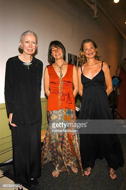 Kathy di Montezemolo Brooke Neidich and Robin Bell attend Lyn Devon Debut Collection and Cocktails at 463 Broome St on September 7 2005 in New York...