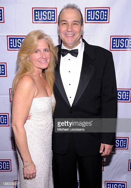 Kathy Exelis and Michael Exelis attend the 50th USO Armed Forces gala Gold Medal dinner at The New York Marriott Marquis on December 7 2011 in New...