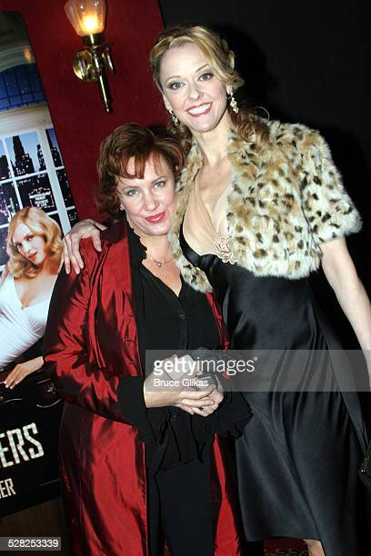 Kathy Fitzgerald and Angie Schworer during The Producers New York Premiere Inside Arrivals at The Ziegfeld Theater in New York City New York United...