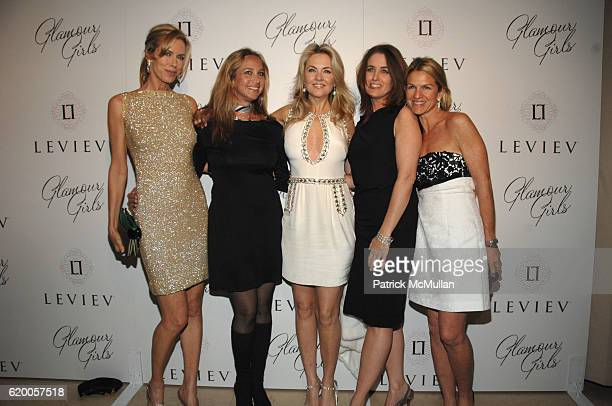 Kathy Freston Angela Janklow Cornelia Guest Elizabeth Callender and Crystal Lourd attend LEVIEV Party for GLAMOUR GIRLS at Sunset Tower Hotel on...
