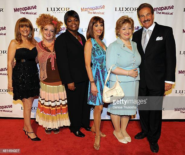 Kathy Glist Emily David Paige O'Hara Annette Houlihan Verdolino and Alan Glist arrives at the premiere of 'Menopause The Musical' at Luxor Hotel and...