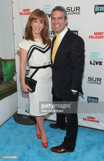 Kathy Griffin and Andy Cohen attend red carpet and party to celebrate the release of Most Talkative Stories From The Front Lines Of Pop Culture on...