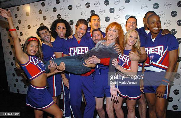 Kathy Griffin and Cheerleaders during Comix Grand Opening September 14 2006 at Comix in New York City New York United States