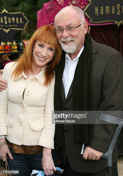 Kathy Griffin and guest at Kama Sutra during 2007 Silver Spoon Golden Globes Suite Day 1 at Private Residence in Los Angeles California United States...