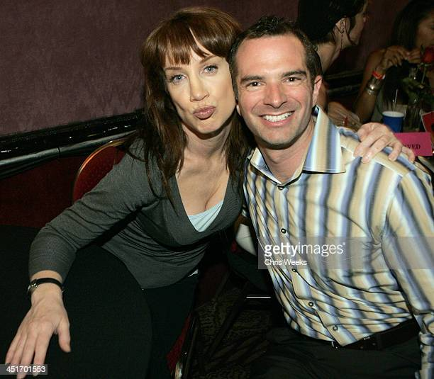 Kathy Griffin and guest during Model/Citizen Goldenvoice Present WWJD What Would Janice Do Backstage Inside Show at The El Rey Theatre in Los Angeles...