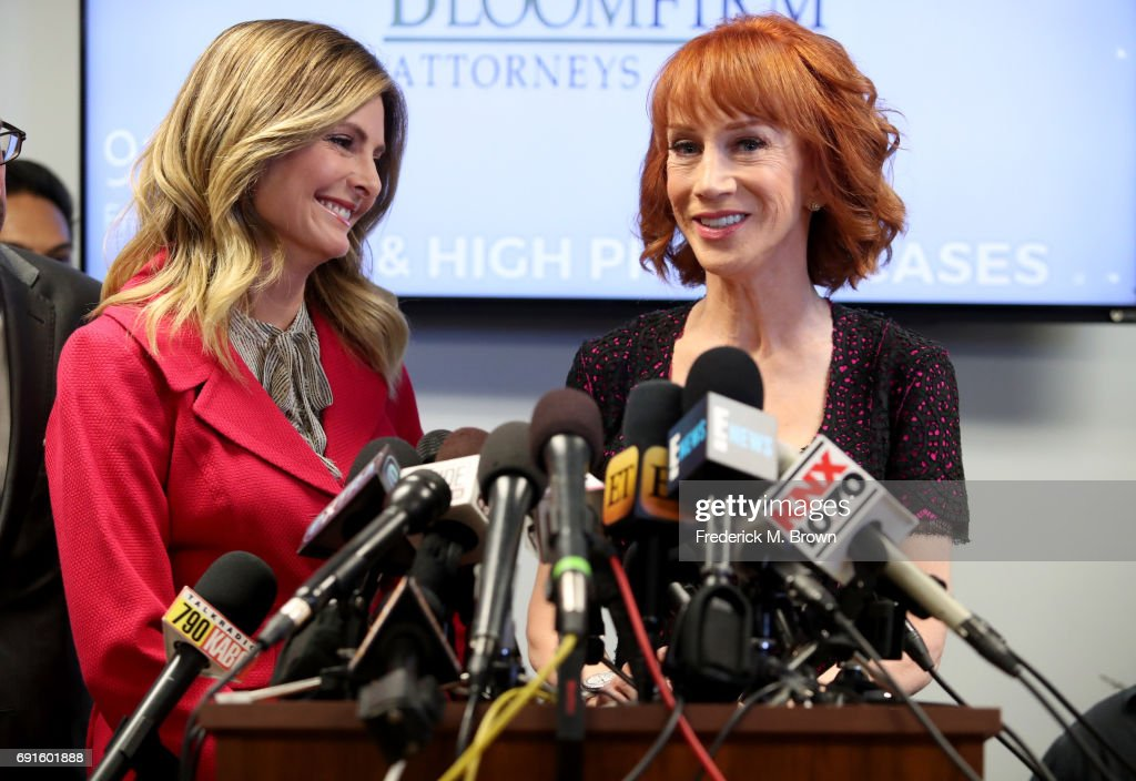 Kathy Griffin And Her Attorney Lisa Bloom Hold Press Conference : News Photo