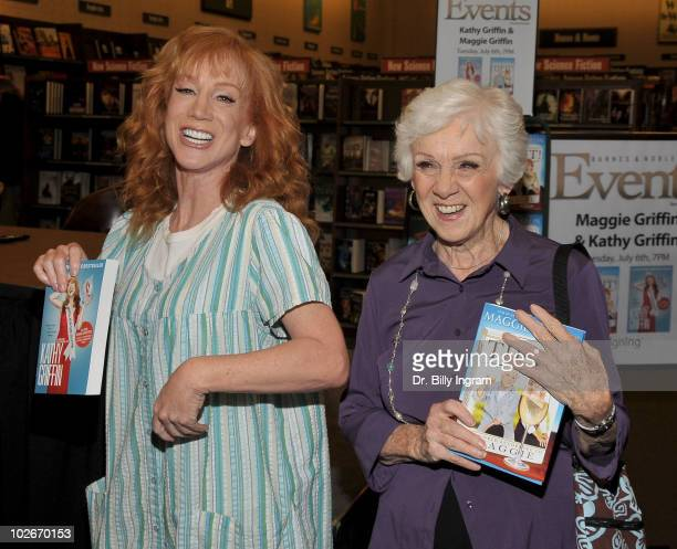 Kathy Griffin and her Mom actress Maggie Griffin sign copies of their books at Barnes Noble on July 6 2010 in Huntington Beach California