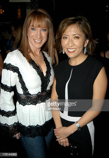 Kathy Griffin and Janice Min during US Weekly Celebrates New Editor In Chief Janice Min at Dolce in Hollywood California United States