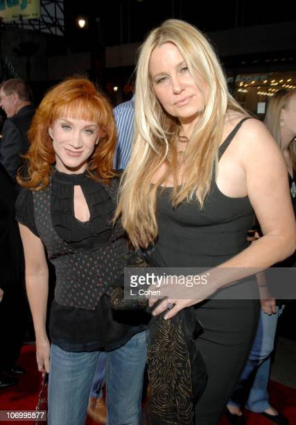 Kathy Griffin and Jennifer Coolidge during 'Employee of the Month' Premiere Red Carpet at Mann's Chinese Theater in Hollywood California United States
