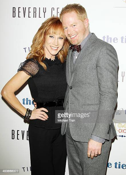 """Kathy Griffin and Jesse Tyler Ferguson arrive at the """"Tie The Knot"""" pop-up store opening held at The Beverly Center on December 5, 2013 in Los..."""