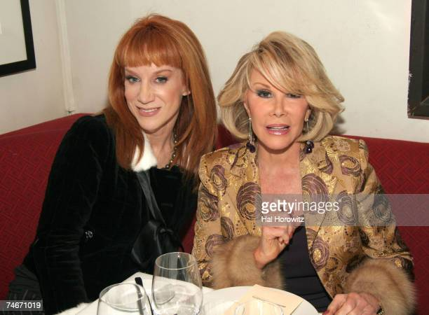 Kathy Griffin and Joan Rivers at the David Burke Donatella in New York City New York