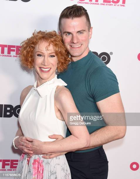 Kathy Griffin and Louis Virtel arrive at the 2019 Outfest Los Angeles LGBTQ Film Festival Screening Of Kathy Griffin A Hell Of A Story at Ford...