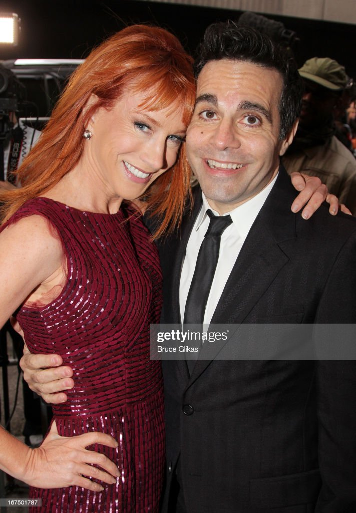Kathy Griffin and Mario Cantone attend the 'I'll Eat You Last: A Chat With Sue Mengers' Broadway opening night at The Booth Theater on April 24, 2013 in New York City.