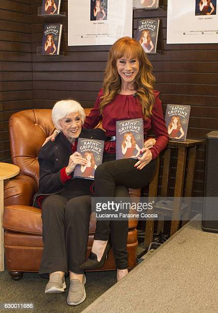 Kathy Griffin and mother Maggie Griffin pose for portrait at her book signing for Kathy Griffin's Celebrity RunIns My AZ Index at Barnes Noble at The...