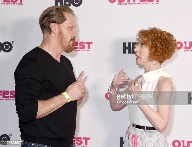 Kathy Griffin and Peter Perkowski arrive at the 2019 Outfest Los Angeles LGBTQ Film Festival Screening Of Kathy Griffin A Hell Of A Story at Ford...