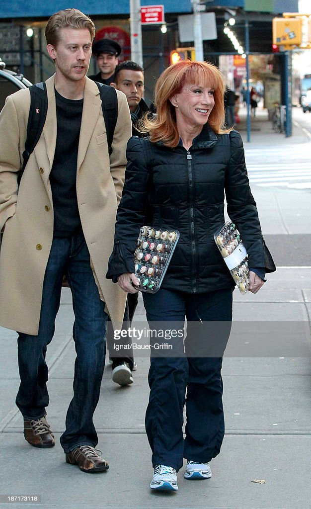 Kathy Griffin (R) and Randy Bick are seen on November 6, 2013 in New York City.