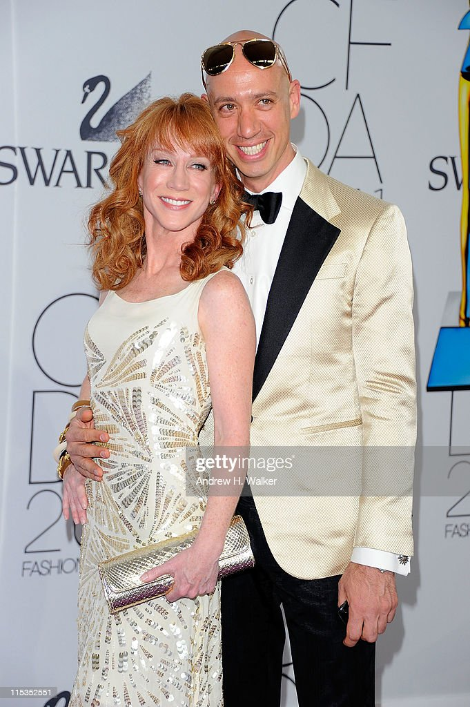 Kathy Griffin and Robert Verdi attend the 2011 CFDA Fashion Awards at Alice Tully Hall, Lincoln Center on June 6, 2011 in New York City.