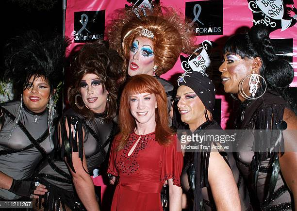 Kathy Griffin and The Dobermans during 4th Annual Best in Drag Show to Benefit Aid for AIDS at WilshireEbell Theater in Los Angeles California United...