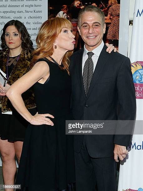 Kathy Griffin and Tony Danza attend the 14th annual Make Believe On Broadway gala at The Bernard B Jacobs Theatre on November 4 2013 in New York City