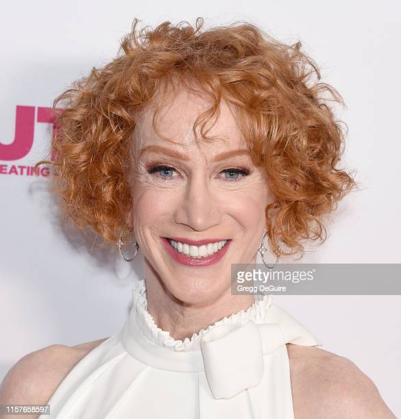 Kathy Griffin arrives at the 2019 Outfest Los Angeles LGBTQ Film Festival Screening Of Kathy Griffin A Hell Of A Story at Ford Theatre on July 25...