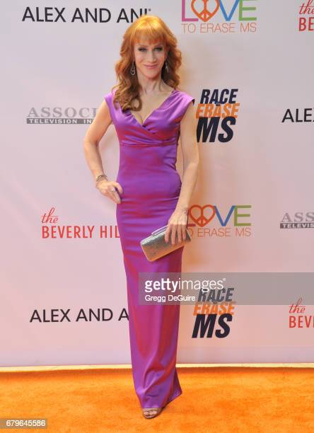 Kathy Griffin arrives at the 24th Annual Race To Erase MS Gala at The Beverly Hilton Hotel on May 5 2017 in Beverly Hills California