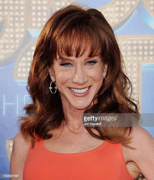 """Kathy Griffin arrives at the Los Angeles Premiere """"GLEE: The 3D Concert Movie"""" at Regency Village Theatre on August 6, 2011 in Westwood, California."""