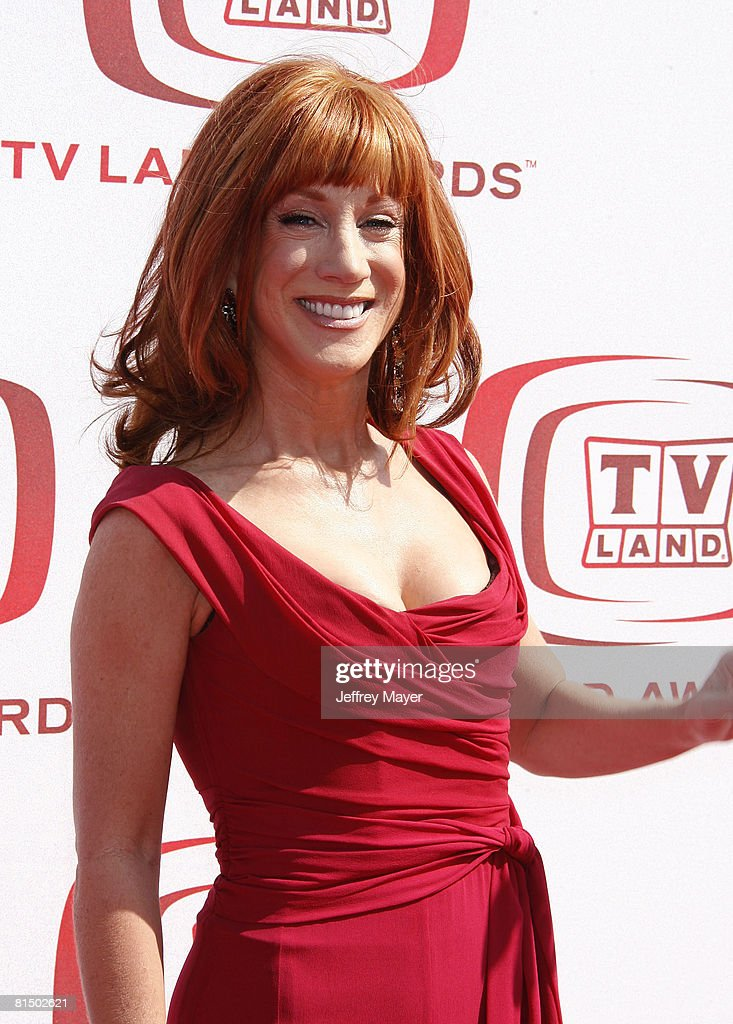Kathy Griffin arrives to The 6th Annual 'TV Land Awards' on June 8, 2008 at the Barker Hanger in Santa Monica, California.
