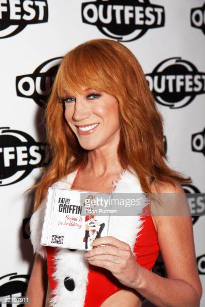 Kathy Griffin arrives to the Premiere Party for Bravo's 'Tabatha's Salon Takeover' hosted by Outfest at Here Lounge on November 3 2009 in West...