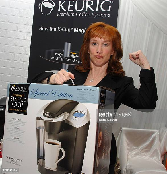 Kathy Griffin at Keurig during The 48th Annual GRAMMY Awards Distinctive Assets Talent Lounge Day 3 at Staples Center in Los Angeles California...