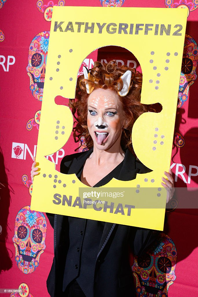 Kathy Griffin attends Bette Midler's Annual Hulaween Bash celebrating the New York Restoration Project at the Waldorf=Astoria on October 28, 2016 in New York City.