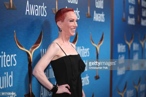 Kathy Griffin attends the 2018 Writers Guild Awards LA Ceremony at The Beverly Hilton Hotel on February 11 2018 in Beverly Hills California