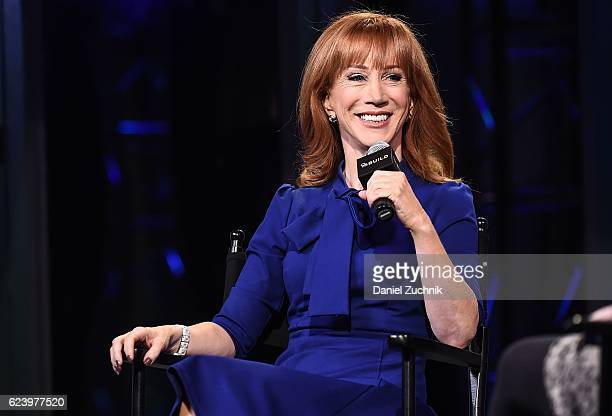 Kathy Griffin attends the Build Series to discuss her new book 'Kathy Griffin's Celebrity RunIns' at AOL HQ on November 17 2016 in New York City