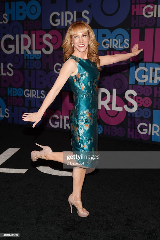 Kathy Griffin attends the 'Girls' Season Four Premiere at the American Museum of Natural History on January 5, 2015 in New York City.